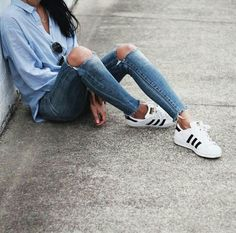 How to wear adidas superstar with shorts 66 ideas Winter Outfits, Casual Outfits, Cute Outfits, Fashion Outfits, Womens Fashion, Fresh Outfits, Model Outfits, Dope Fashion, Fashion Styles