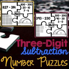 Third-grade number puzzles help students learn how to interpret multiplication and division in numerous ways. Teaching Kindergarten, Student Learning, Fun Learning, Teaching Kids, Teaching Second Grade, 2nd Grade Math, Third Grade, Subtraction With Borrowing, Number Puzzles