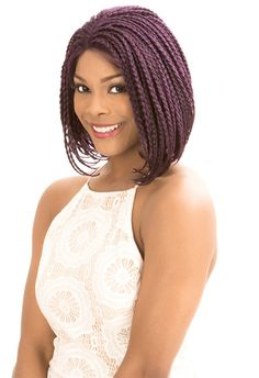 These synthetic lace front wigs, lace wigs, human hair wigs, glueless cap wigs, come in a variety of styles and colors. Box Braids Bob, Front Braids, Bob Lace Front Wigs, Braids Wig, Synthetic Lace Front Wigs, Front Lace, Cute Hairstyles, Braided Hairstyles, Short Styles