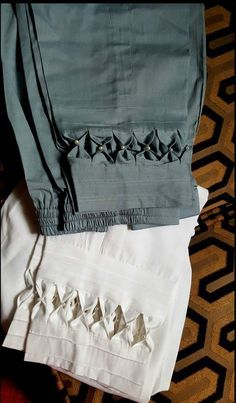 Kabuli salwar with design. This design is also applicable for cigarette pants.