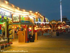 The Sights on the Boardwalk in Wildwood in New Jersey - Gotta love the lights from the amusement rides on Morey's Piers!