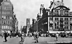 Amsterdam Centrum en omgeving Dam Square, Amsterdam, Youth Culture, Department Store, Family Life, Marcel Breuer, Street View, Places, Death