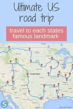 According To Science, This Is The Ultimate Road Trip Across The United States - . - According To Science, This Is The Ultimate Road Trip Across The United States – - Rv Travel, Travel Maps, Family Travel, Adventure Travel, Places To Travel, Family Road Trips, Travel Movies, Travel Chic, Texas Travel