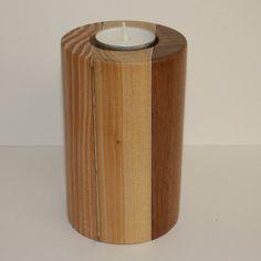Reclaimed Natural Wood Votive Tea Light Candle Holder  by BBLUK, £25.00