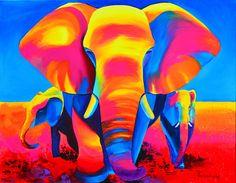 Colored elephants
