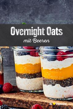 Overnight Oats mit Beeren With our overnight oats recipe you get inspiration for a refined breakfast made from cereals and fruits. The advantages: Overnight Oats … Oats Recipes, Smoothie Recipes, Healthy Recipes, Breakfast Desayunos, Breakfast Recipes, Drink Party, Desserts Sains, Weight Watchers Breakfast, Valeur Nutritive