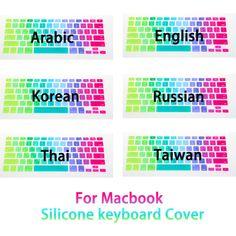 Colorful Rainbow силикон клавиатура крышка протектор кожи плёнка для MacBook лэптоп Mac воздушный 13 Pro 17 13 15 купить на AliExpress