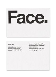 Face. Branding. by Face., via Behance