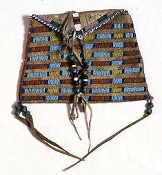 Crow beaded bag