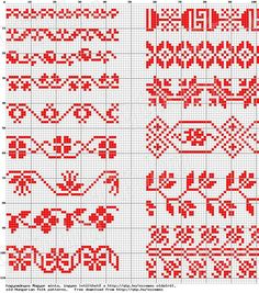 Beginning Cross Stitch Embroidery Tips - Embroidery Patterns Cross Stitch Borders, Cross Stitch Flowers, Cross Stitch Charts, Cross Stitch Designs, Cross Stitching, Cross Stitch Embroidery, Cross Stitch Patterns, Fair Isle Knitting Patterns, Knitting Charts