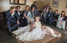 #weddingportraits #coolasf**k #alternativewedding #coolweddingportraits #badassbride #tattooedbride #weddingsuperheros