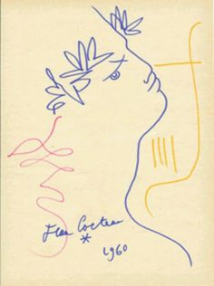 Orpheus drawing by Jean Cocteau Line Drawing, Painting & Drawing, Ornament And Crime, Inspiration Artistique, Jean Cocteau, Great Works Of Art, Exhibition Poster, Henri Matisse, French Artists