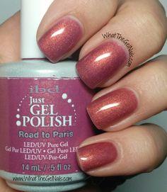 IBD Road to Paris plus more pink IBD gel nail polish colors.