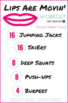 Turn up the tunes and get sweating! This is a no-equipment one song workout done to Meghan Trainor's