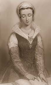 Lady Jane Grey, queen of England for nine days before being executed for her faith