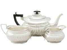 Sterling Silver Three Piece Tea Service - Antique Edwardian  SKU: A3747 Price  GBP £1,395.00  http://www.acsilver.co.uk/shop/pc/Sterling-Silver-Three-Piece-Tea-Service-Antique-Edwardian-96p4822.htm#.Vjnwzys8rfc