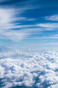 Blue Sky Wallpaper, Iphone Wallpaper Sky, Cloud Wallpaper, Wallpaper Backgrounds, Wallpaper Awesome, Beautiful Wallpaper, Cloud Photos, Sky Photos, Hd Sky