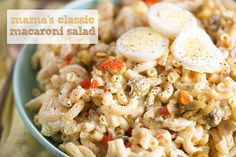 A classic macaroni salad recipe that is perfect for all your summer get togethers! This recipe is fast, easy, and always a hit!