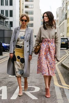 Two beautiful ways to wear prints.