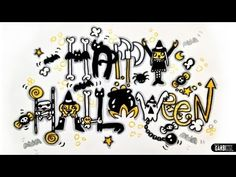 Happy Halloween - How To Draw Scary and Graffiti Letters by Garbi KW