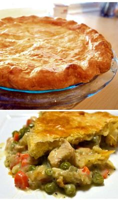 Easy & Healthy Chicken Pot Pie Recipe From Scratch. No butter and no cream used. Delicious!