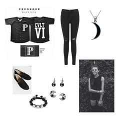 """""""Lynn Gunn Inspired"""" by ptvjordxn ❤ liked on Polyvore featuring Miss Selfridge, TOMS, claire's, Carolina Glamour Collection and Bling Jewelry"""