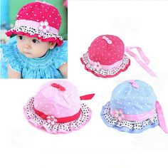 Lindas Sombrero de bebé playa Gorro Flor Gorra de Sol Niña Verano Hat  ppp  in Bebés 7d47956925c