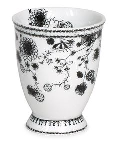 Take a look at this White Flower 9.5-Oz. Milk Mug by Miss Blackbirdy on #zulily today! $8 !!