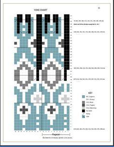 Fair Isle Knitting Patterns, Sweater Knitting Patterns, Knitting Charts, Knit Patterns, Free Knitting, Sock Knitting, Stitch Patterns, Motif Fair Isle, Fair Isle Chart