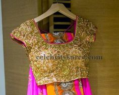 Attractive Gold Blouse by Varuna Jithesh   Saree Blouse Patterns