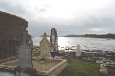 Graveyard at end of Quay St Pier looking onto Donegal Bay