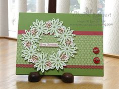 Snow Swirled Wreaths by flmom - Cards and Paper Crafts at Splitcoaststampers (Cute - try in a different color - maybe silver and blue)
