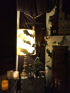 Our house haunted mansion dining room on pinterest for Haunted dining room ideas