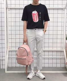 clothes for men casual Korean Fashion Men, Boy Fashion, Street Fashion, Mens Fashion, Fashion Outfits, Fashion Trends, Fashion Clothes, Fashion Tips, Men Looks