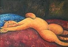 Modigliani cat (first time I've seen a cat by him) The false cats of Van Gogh, Matisse & C. Matisse, I Love Cats, Crazy Cats, Amédéo Modigliani, Sculpture Painting, Italian Painters, Cat Boarding, Classical Art, Funny Cat Pictures