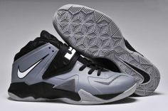 Cheap Nike Zoom Soldier VII Grey White Black Lebron 7 78c9c4a10d