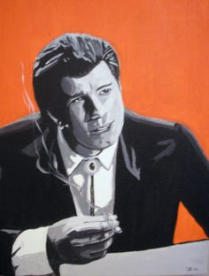 Accrylic painting on canvas of Vincent Vega(john Travolta) from the movie Pulpfiction. part 1 of 4 of a series of Pulpfiction paintings. 1990s Films, Pulp Fiction Art, John Travolta, Love Art, Digital Art, Animation, Fan Art, Deviantart, Painting