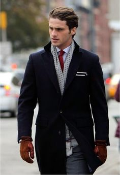 winter fashion man, you need a tie