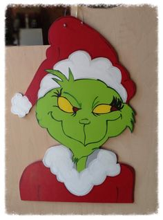 Christmas Grinch Door Hanger, Christmas Door Hanger, Christmas Door Decor…