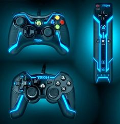 $115.99 | TRON Wired Controller for #xbox 360 Collector's Edition, Futuristic, Game Consoles, Neon, Video Games, Tron Legacy | FuturisticSHOP.com
