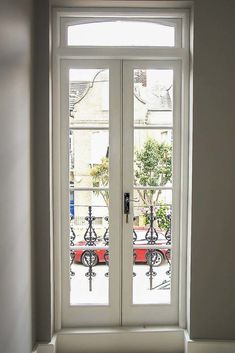 Idea, methods, and also resource in pursuance of obtaining the most effective result and also attaining the optimum use of french door curtains Patio Windows, Balcony Doors, Bedroom Balcony, French Doors With Screens, French Windows, Windows And Doors, Sash Windows, Narrow French Doors, French Doors Patio