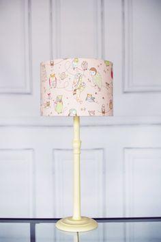 Pink owl lamp shade, lampshade, lamp shade, owl lampshade, owl lamp, owl lamp shade, nursery lampshade, kids lamp shade, shade - pinned by pin4etsy.com