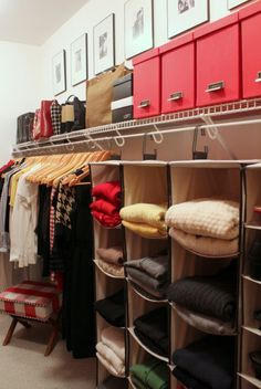 Organizing:  The Bedroom Closet in 12 Steps with diy directions