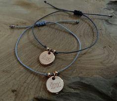 Freundschaftsbänder - Armband Macramé Schwesternband Sisters roségold - ein Designerstück von saniLou bei DaWanda