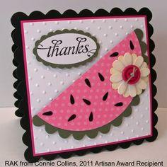 cute watermelon card