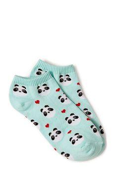Happy Panda Ankle Socks | FOREVER21 - 2000125111