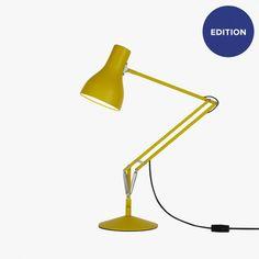 yellow sturdy desk lamp