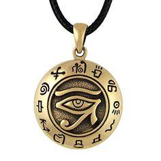 Bronze Egyptian Eye of Horus Ra Udjat Pendant Kemetic All Seeing Eye Necklace Ancient Egyptian Beliefs, Egyptian Eye, Egyptian Mythology, Egyptian Symbols, Moon Symbols, Pagan Symbols, Symbols And Meanings, Ancient Symbols, Mummified Body