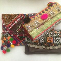 Gypsy River OOAK tribal clutches