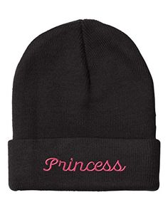 Princess Embroidery Embroidered Beanie Skully Hat Cap Black - http://todays-shopping.xyz/2016/07/09/princess-embroidery-embroidered-beanie-skully-hat-cap-black/